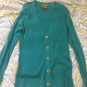 Tory Burch blue/green cardigan (never worn)